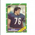 Steve McMichael 1986 Topps Card #21 Chicago Bears