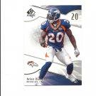 Brian Dawkins 2009 SP Authentic Card #43 Denver Broncos/Philadelphia Eagles