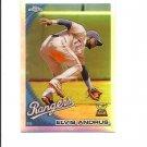 Elvis Andrus 2010 Topps Chrome Refractor Card #87 Texas Rangers