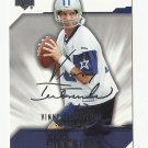 Vinny Testaverde 2004 Upper Deck Diamond ProSigs Card #24 Dallas Cowboys/Tampa Bay Buccaneers