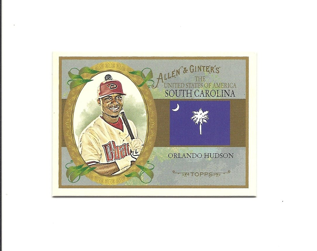 Orlando Hudson 2008 Topps Allen and Ginter United States Card #US40 Arizona Diamondbacks