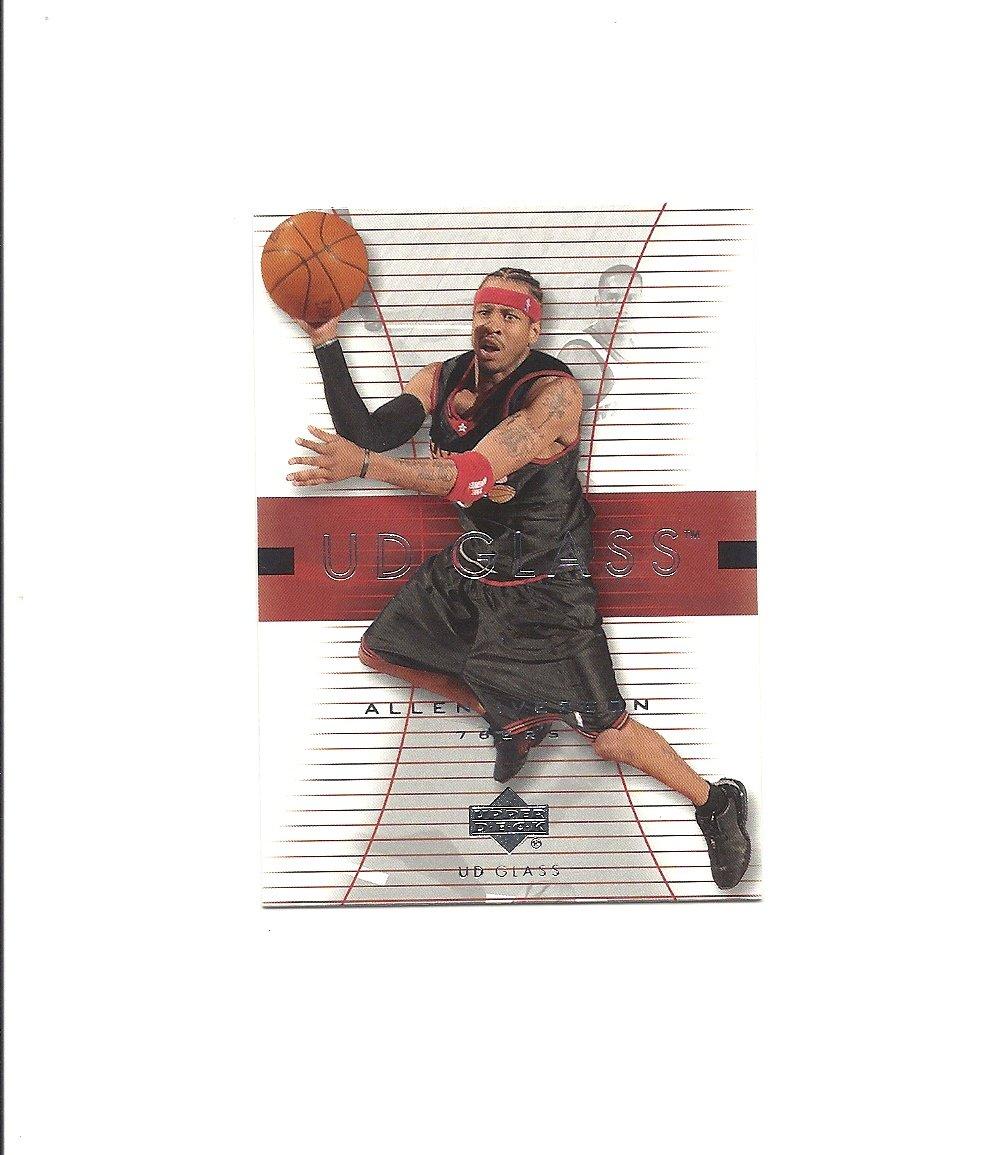 Allen Iverson 2003-04 UD Glass #43 Philadelphia 76ers