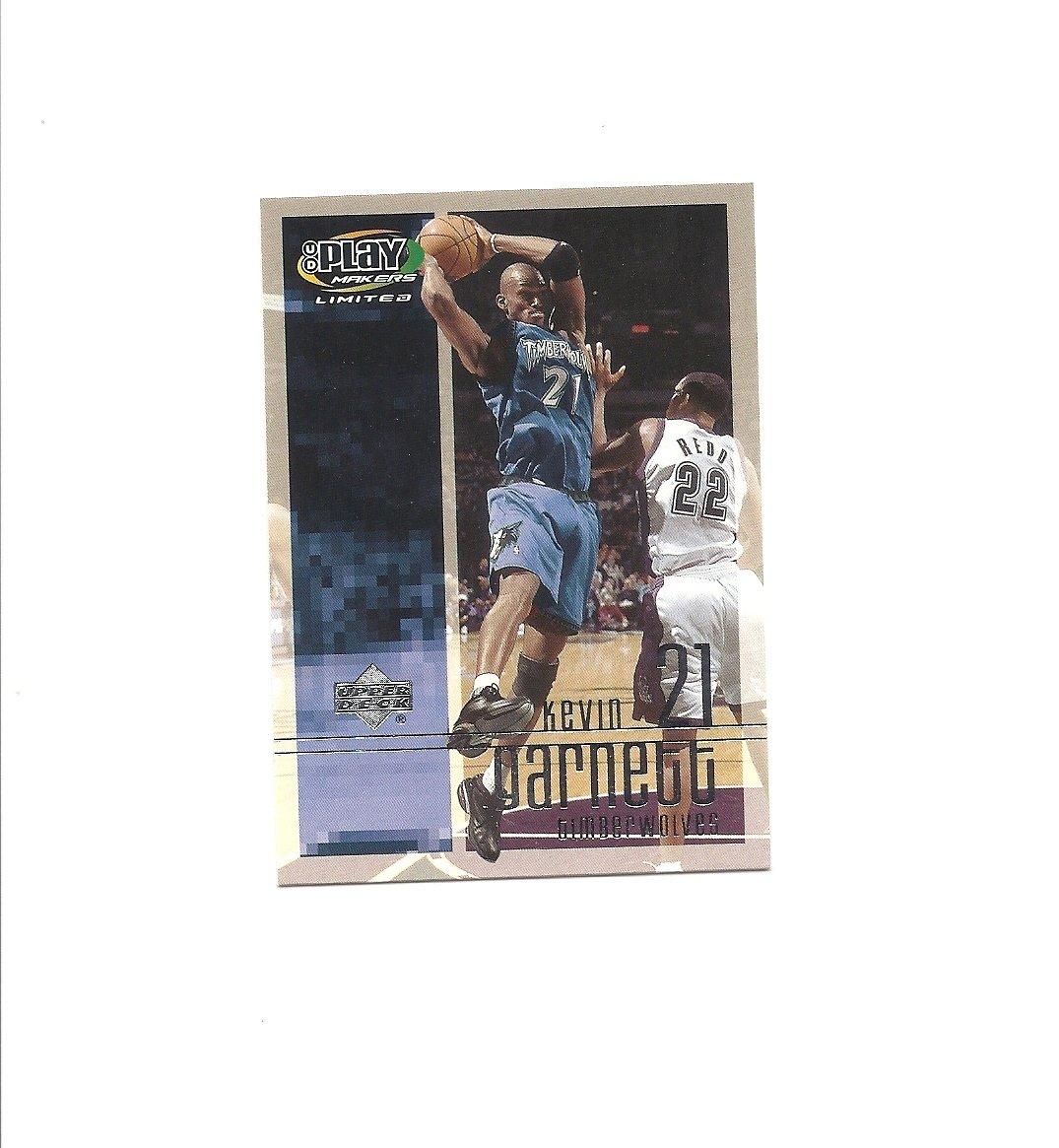 Kevin Garnett 2001-02 Upper Deck Playmakers #56 Minnesota Timberwolves/Brooklyn Nets
