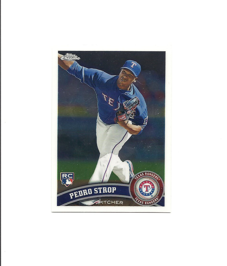 Pedro Strop 2011 Topps Chrome Rookie Card #210 Texas Rangers