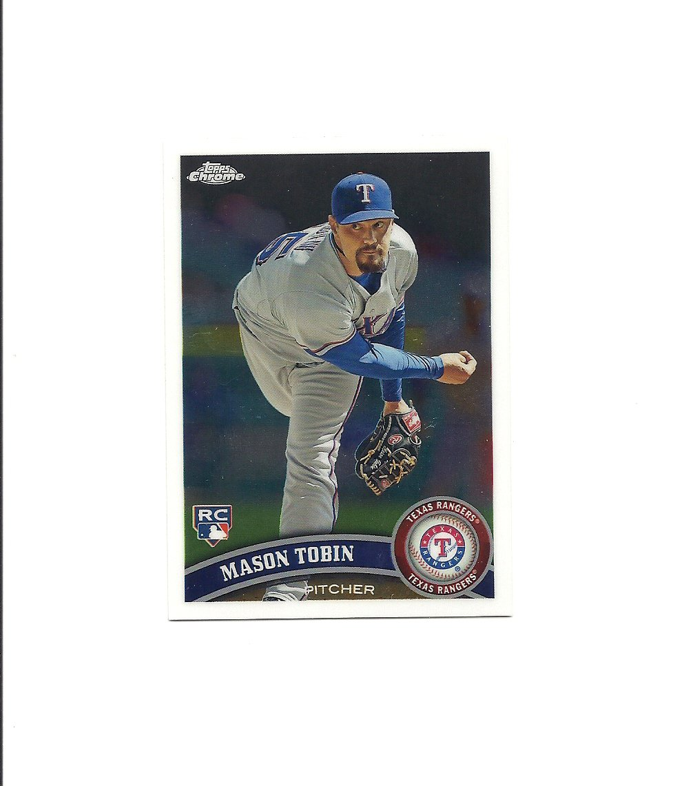 Mason Tobin 2011 Topps Chrome Rookie Card #194 Texas Rangers