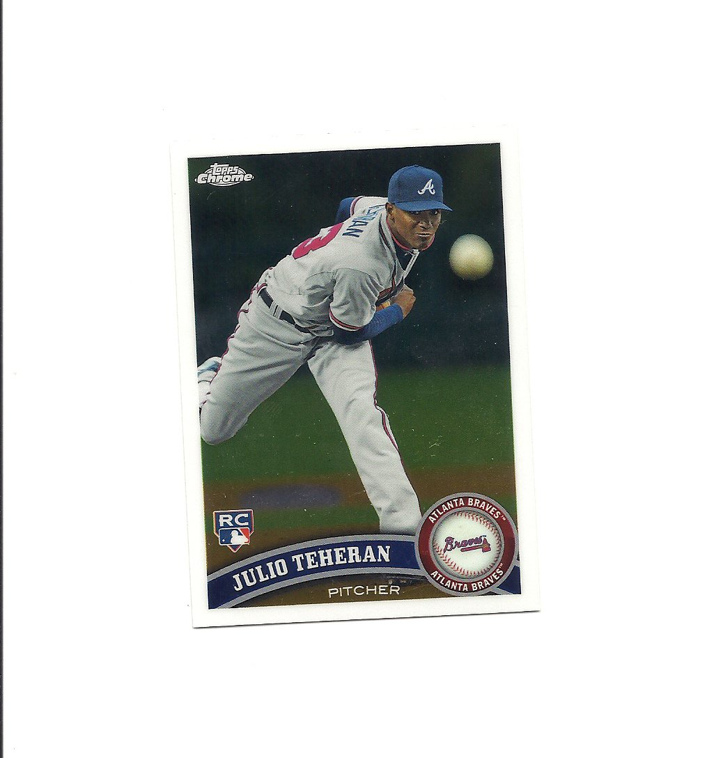 Julio Teheran 2011 Topps Chrome Rookie Card #197 Atlanta Braves