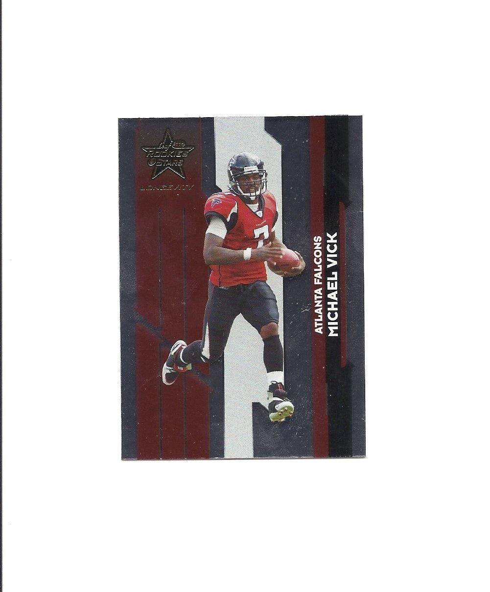 Michael Vick 2006 Leaf Rookies and Stars Longevity Card #6 Atlanta Falcons/Philadelphia Eagles