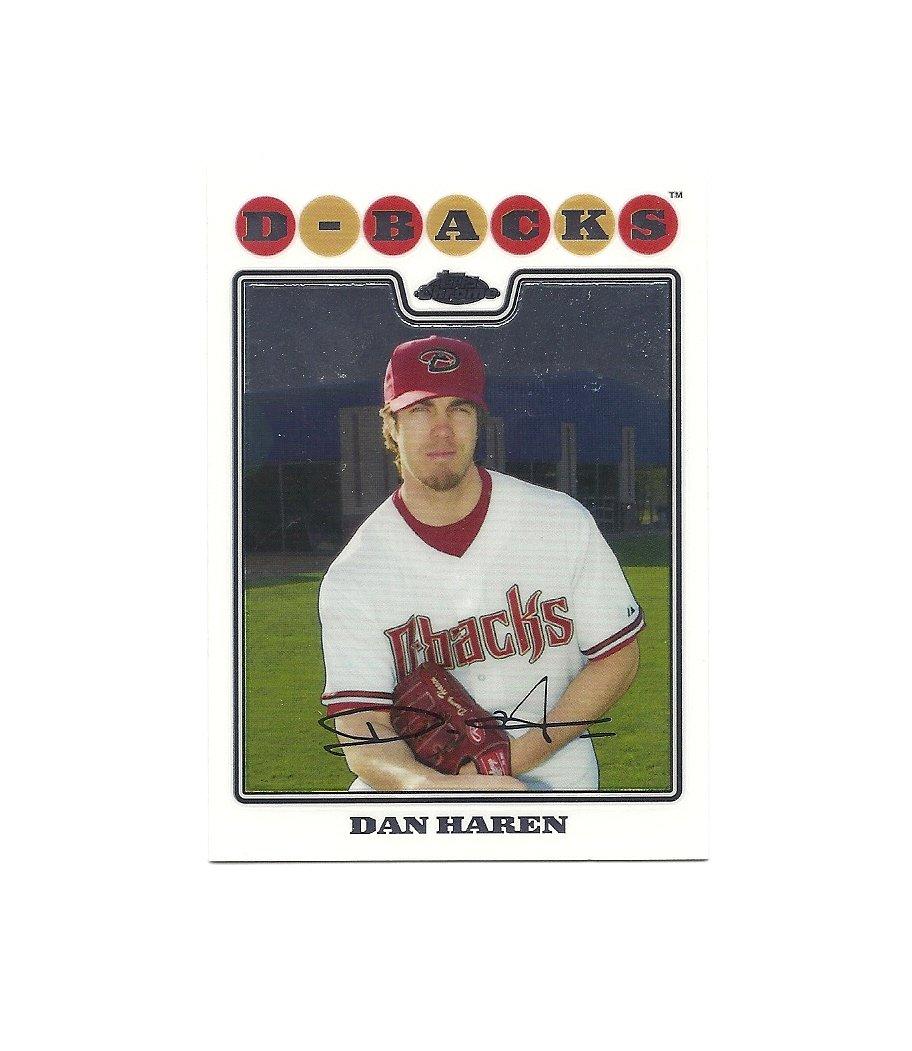 Dan Haren 2008 Topps Chrome Card #71 Arizona Diamondbacks/Los Angeles Dodgers