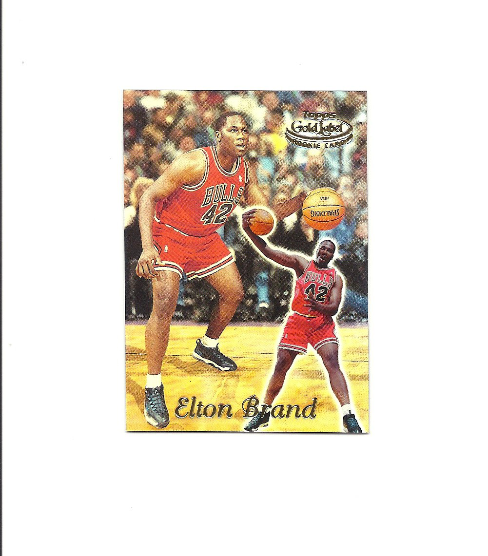 Elton Brand 1999-00 Topps Gold Label Class 1 Rookie #86 Chicago Bulls/Philadelphia 76ers