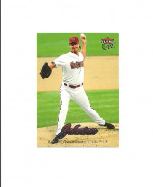 Randy Johnson 2007 Fleer Ultra Card #2 Arizona Diamondbacks