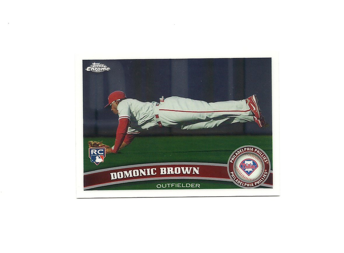 Domonic Brown 2011 Topps Chrome Rookie Card #186 Philadelphia Phillies