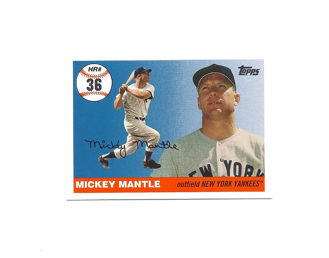 Mickey Mantle 2006 Topps Home Run History Card #MHR36 New York Yankees