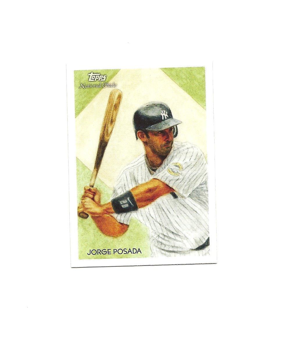 Jorge Posada 2010 Topps National Chicle Card #72 New York Yankees