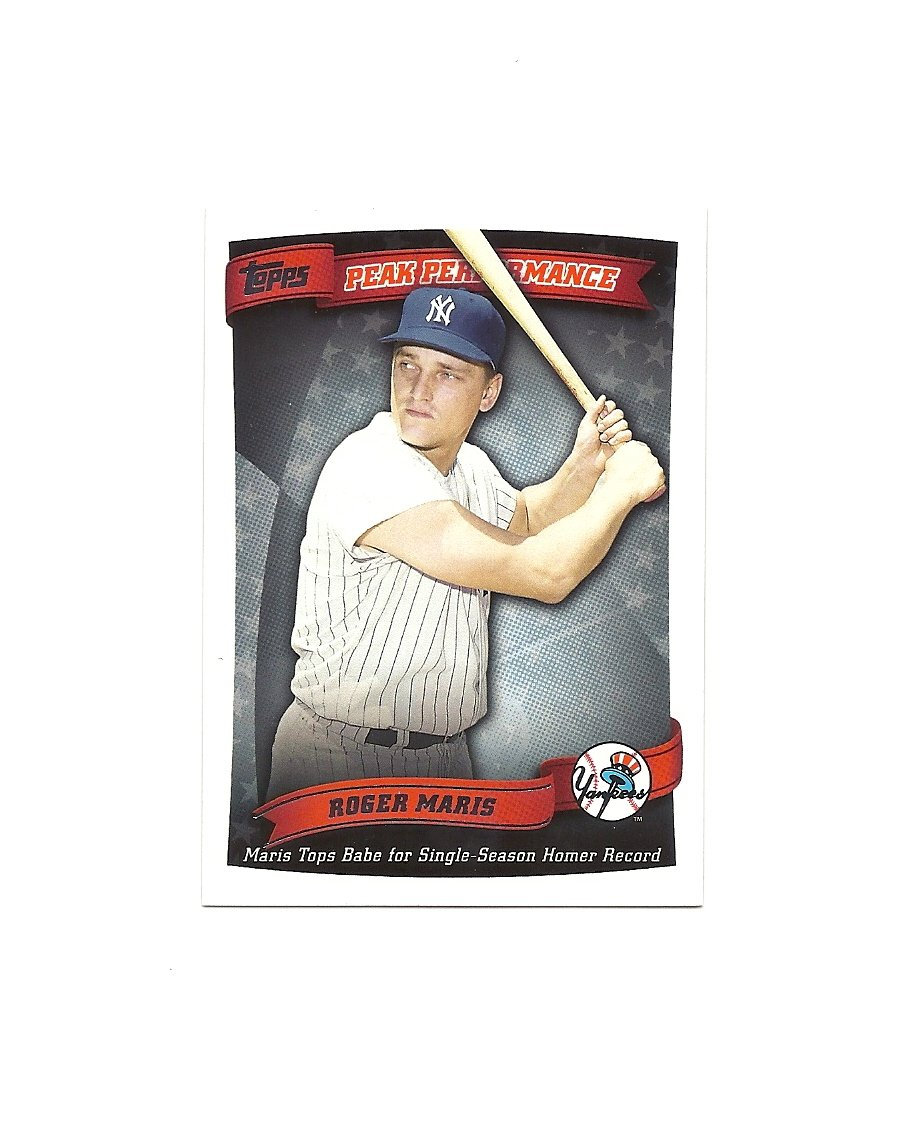 Roger Maris 2010 Topps Peak Performance Card #PP-47 New York Yankees