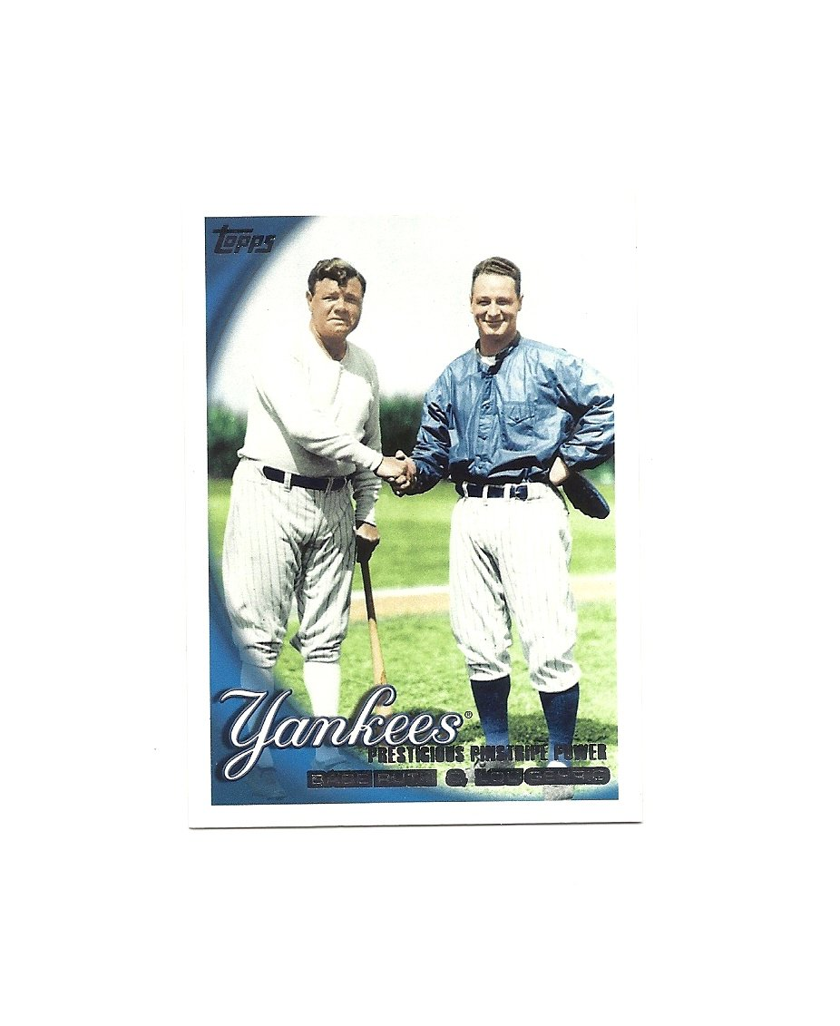 Babe Ruth/Lou Gehrig 2010 Topps #637 New York Yankees
