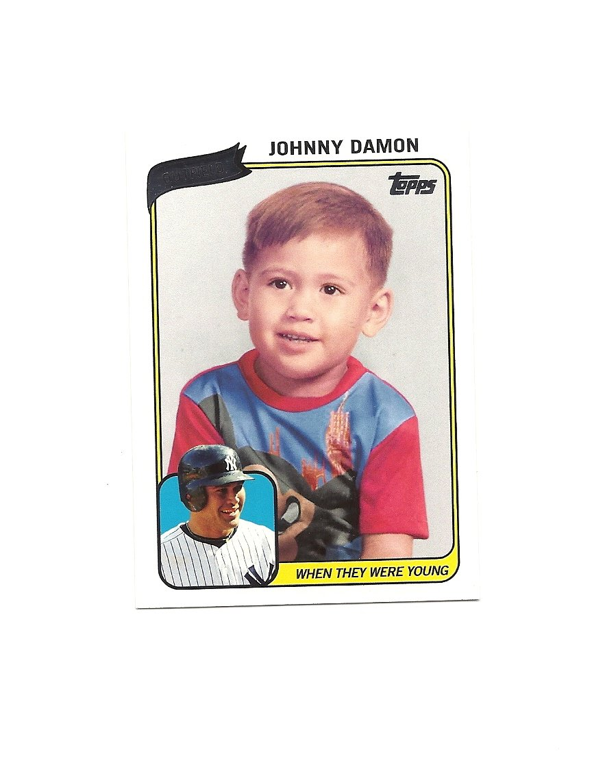Johnny Damon 2010 Topps When they Were Young Card #WTWYJD New York Yankees