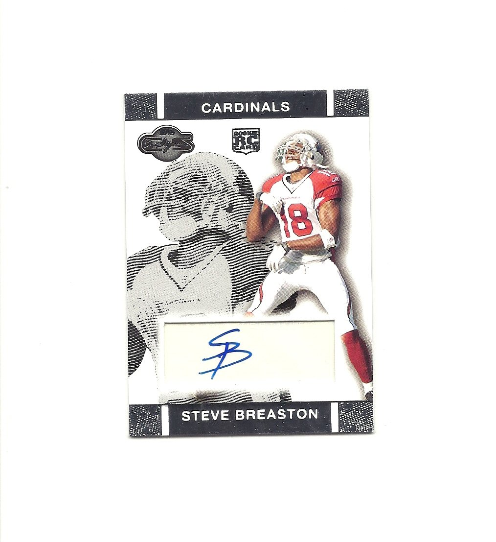 Steve Breaston 2007 Topps Co-Signers Certified Auto Rookie Card #RA-SB Arizona Cardinals
