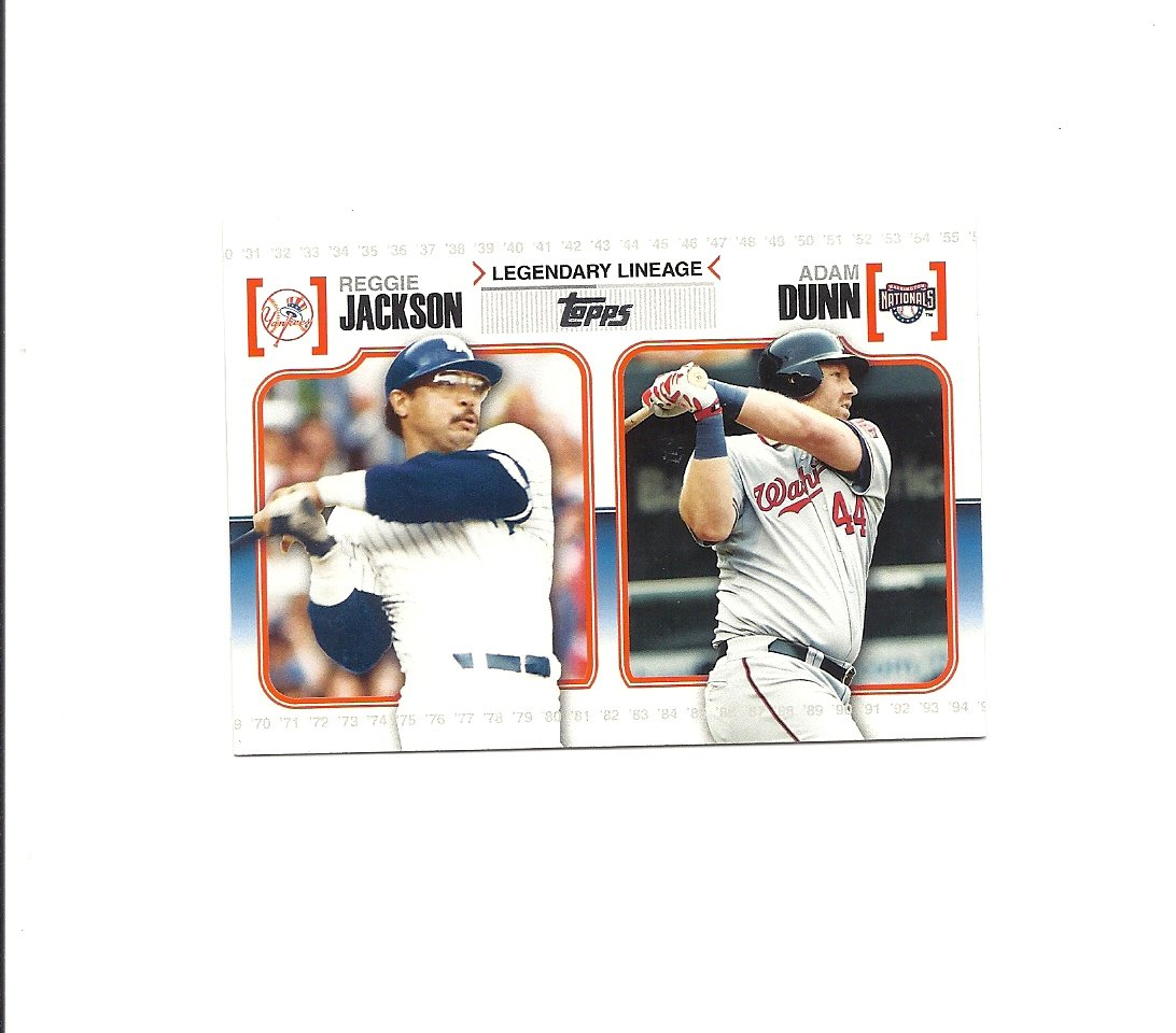 Reggie Jackson/Adam Dunn 2010 Topps Legendary Lineage #LL13 New York Yankees/Washington Nationals