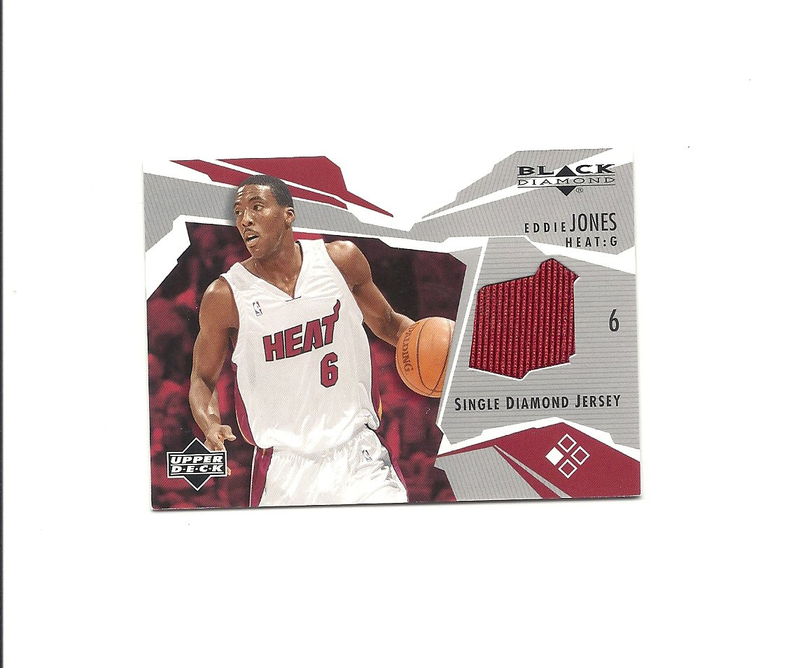 Eddie Jones 2003-04 Black Diamond Jersey Card #BD-EJ Miami Heat