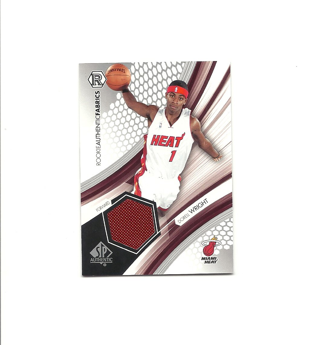 Dorell Wright 2004-05 SP Authentic Fabrics Rookies #RAF-DW Miami Heat/Golden State Warriors