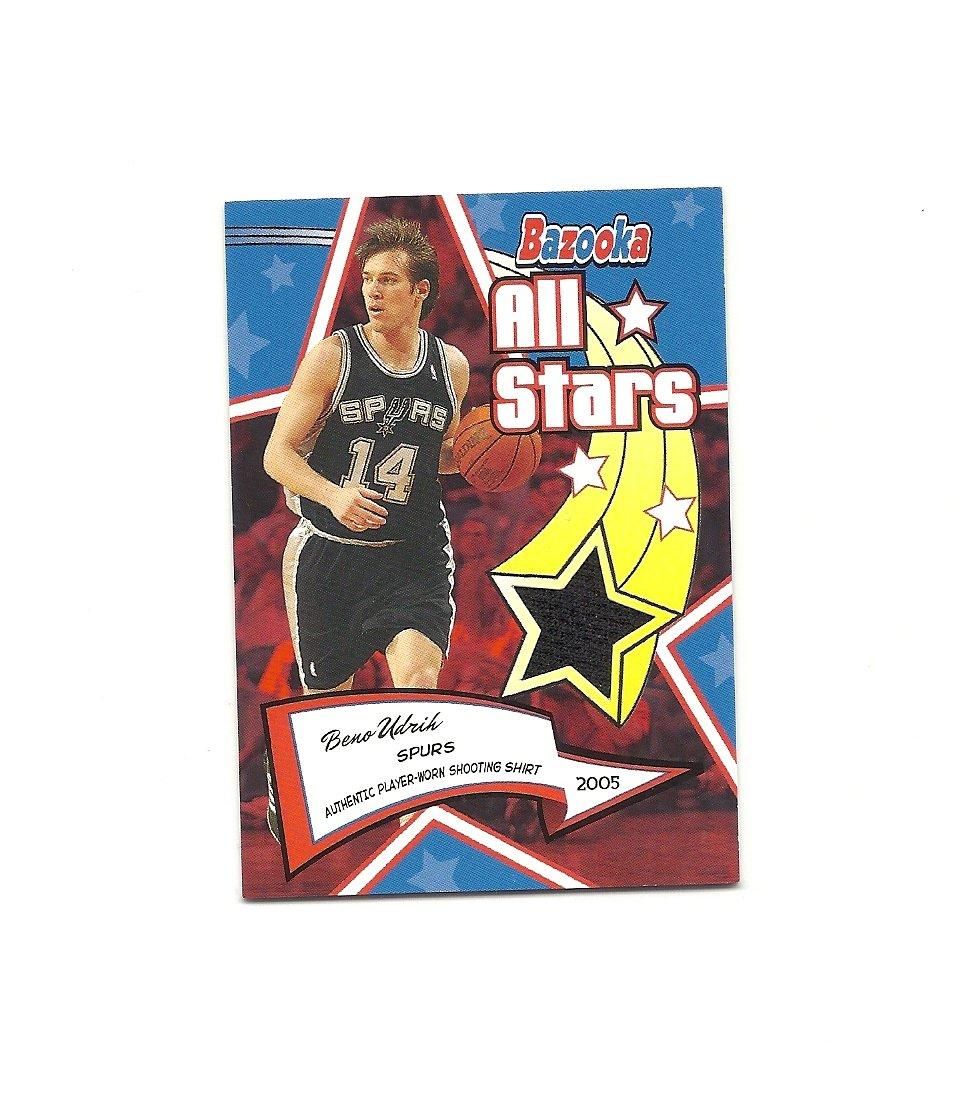 Beno Udrih 2005-06 Bazooka All-Star Relics #BAS-BU San Antonio Spurs/Milwaukee Bucks