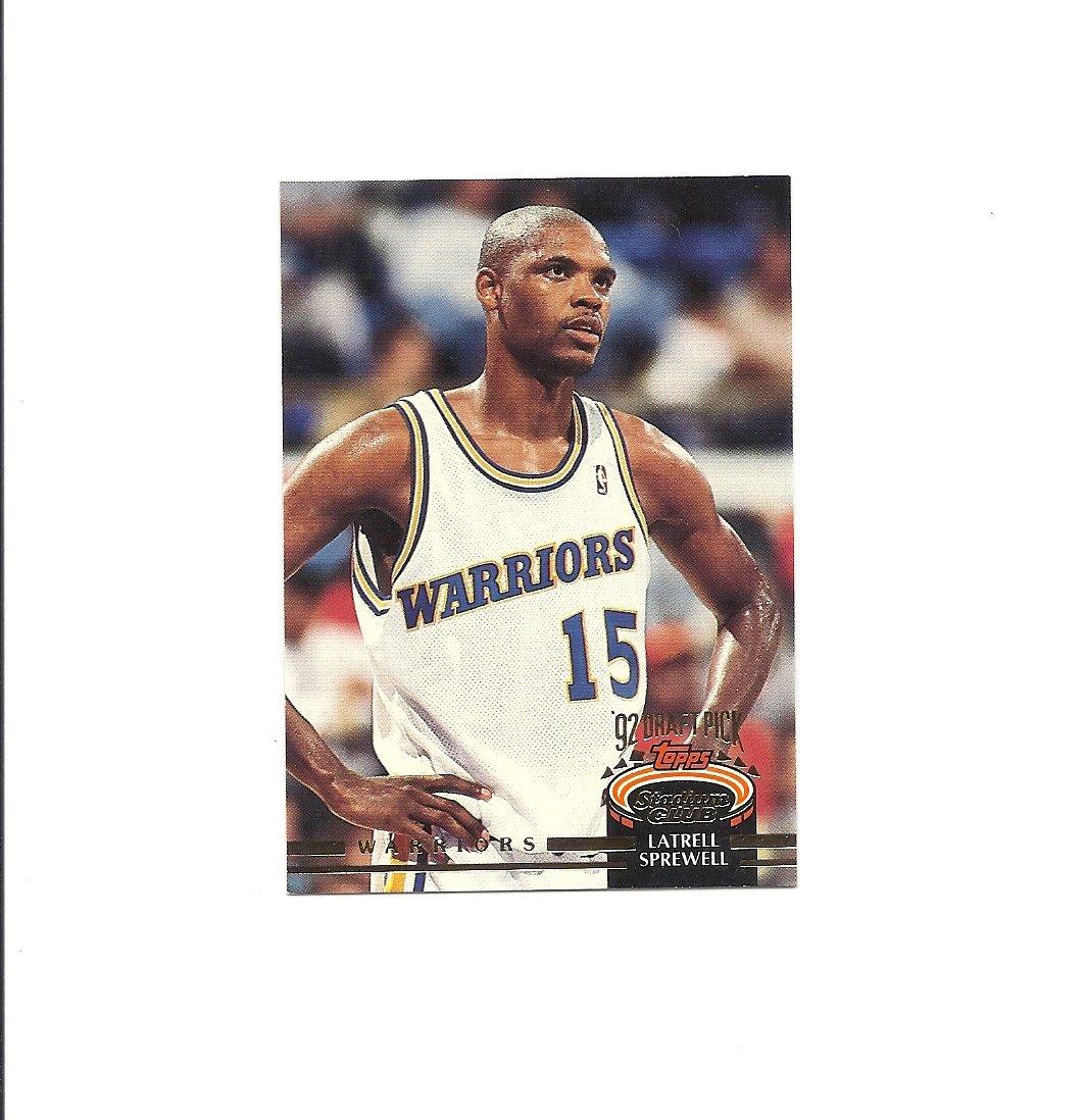 Latrell Sprewell 1992-93 Stadium Club Rookie Card #320 Golden State Warriors