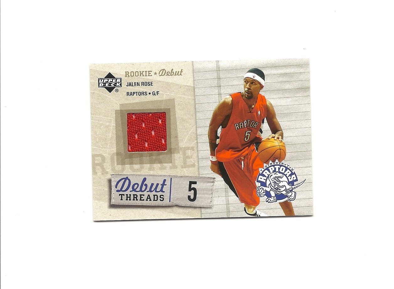 Jalen Rose 2005-06 Upper Deck Rookie Debut Threads #DT-JR Toronto Raptors