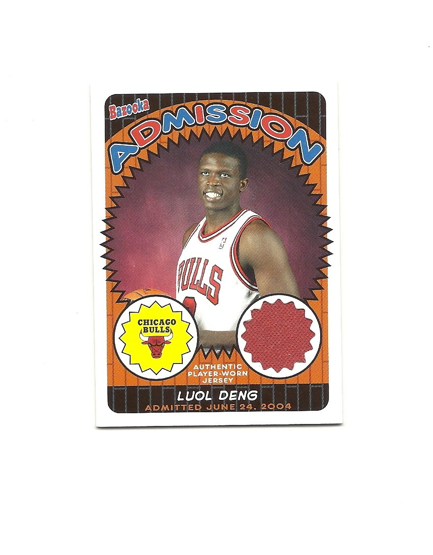 Luol Deng 2005-06 Bazooka Admissions Jersey Card #ADM-LD Chicago Bulls/Cleveland Cavaliers
