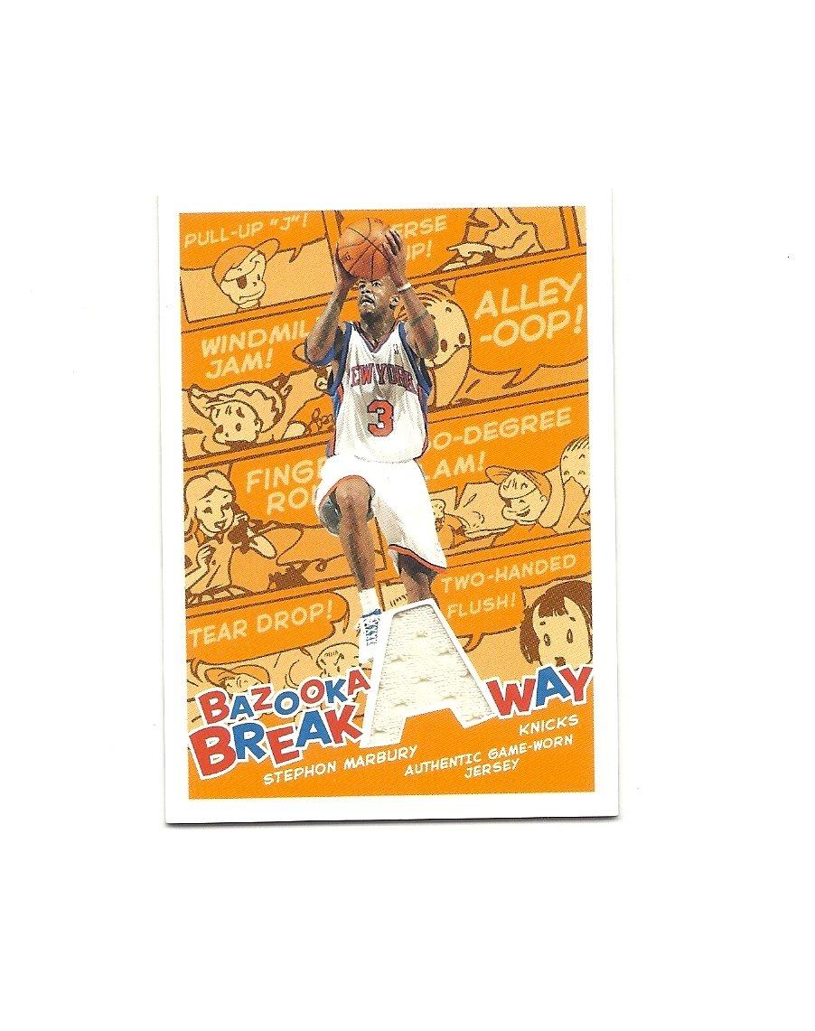 Stephon Marbury 2004-05 Bazooka Breakaway Jersey Card #BA-SMA New York Knicks