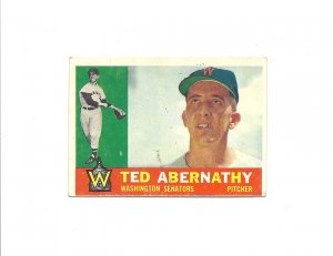 Ted Abernathy 1960 Topps #334 Washington Senators/Minnesota Twins