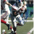 Tiki Barber Autographed 8x10 New York Giants GAI Certification #GV229108