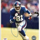 Amani Toomer Autographed 8x10 New York Giants PSA/DNA Certification #T48912