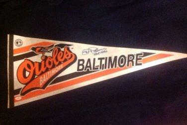 Jim Palmer Autographed Full-Size Pennant Baltimore Orioles JSA Certification #D27249