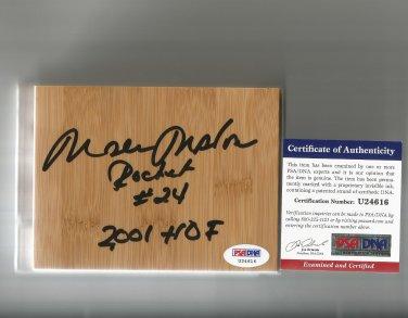 Moses Malone Autographed Floorboard Houston Rockets/Philadelphia 76ers PSA/DNA Certification #U24616