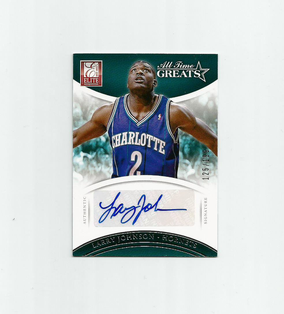Larry Johnson 2012-13 Panini Elite All-Time Greats Autograph #16 Charlotte Hornets