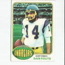 Dan Fouts 1976 Topps #128 San Diego Chargers