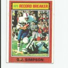 O.J. Simpson 1976 Topps 1975 Record Breaker #6 Buffalo Bills