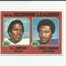 O.J. SImpson/Chuck Foreman 1976 Topps 1975 NFL Scoring Leaders #204 Buffalo Bills/Minnesota Vikings