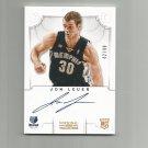 Jon Leuer 2012-13 National Treasures rookie autograph #139 (42/99) Memphis Grizzlies/Detroit Pistons