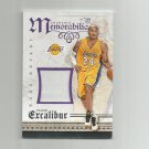 Kobe Bryant 2015-16 Panini Excalibur Memorable Memorabilia Patch #10 Los Angeles Lakers