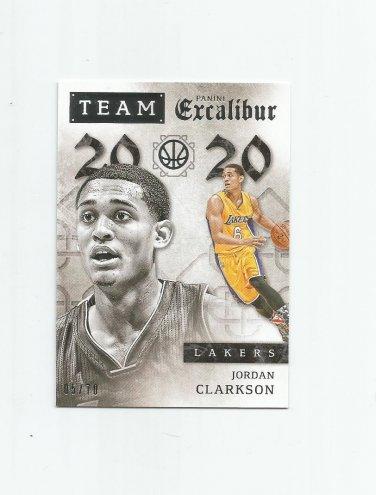 Jordan Clarkson 2015-16 Panini Excalibur Team 20/20 Silver Insert #17 (05/70) Los Angeles Lakers