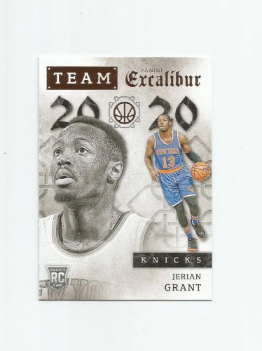 Jerian Grant 2015-16 Panini Excalibur Team 20/20 Rookie Insert #40 New York Knicks