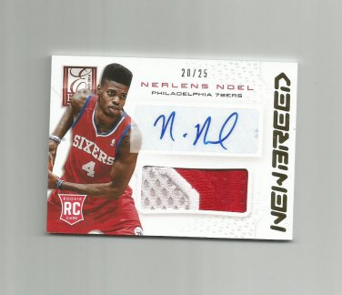 Nerlens Noel 2013-14 Panini Elite New Breed Autographed Rookie #NBNN (20/25) Philadelphia 76ers