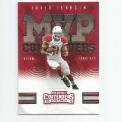 David Johnson 2016 Panini Contenders MVP Contenders Insert #14 Arizona Cardinals