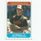 Cal Ripken Jr. 1986 Fleer League Leaders #35 Baltimore Orioles