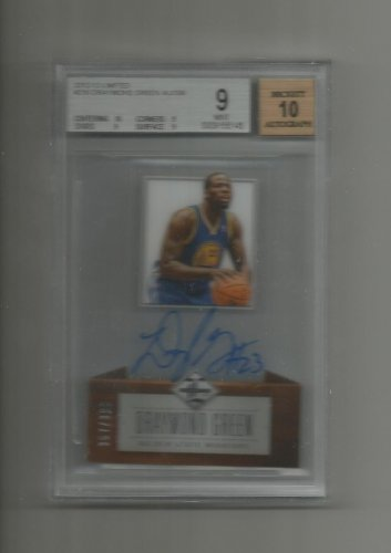 Draymond Green 2012-13 Limited Beckett Graded 9 Auto 10 Rookie #216 (357/399) Golden State Warriors