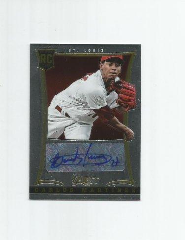 Carlos Martinez 2013 Panini Select Rookie Autograph #194 (545/750) St. Louis Cardinals