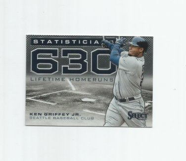 Ken Griffey Jr. 2013 Panini Select Statisticians Insert #ST15 Seattle Mariners