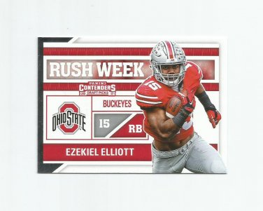 Ezekiel Elliott 2017 Panini Contenders Draft Picks Rush Week Insert #9 Dallas Cowboys