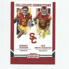 Adoree' Jackson & Juju Smith-Schuster 2017 Contenders Draft Collegiate Connection #4 Titans/Steelers